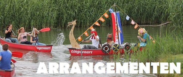 Kanoverhuur Lingevaart arrangementen